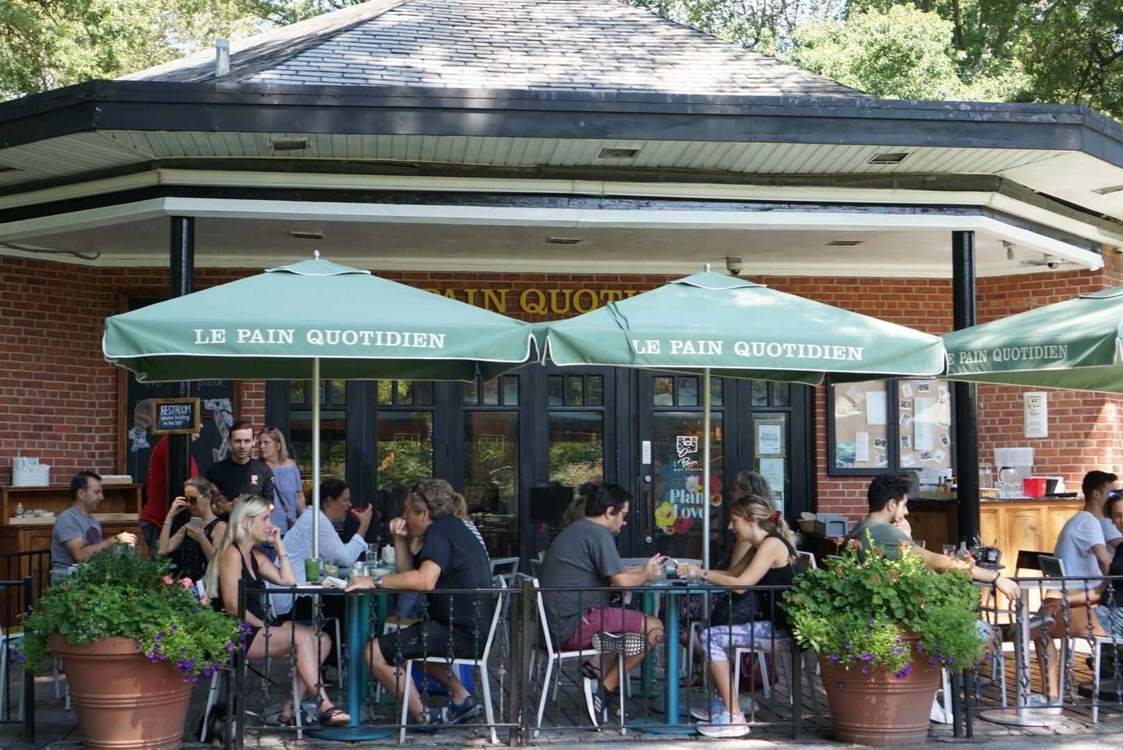 セントラルパーク内のカフェ